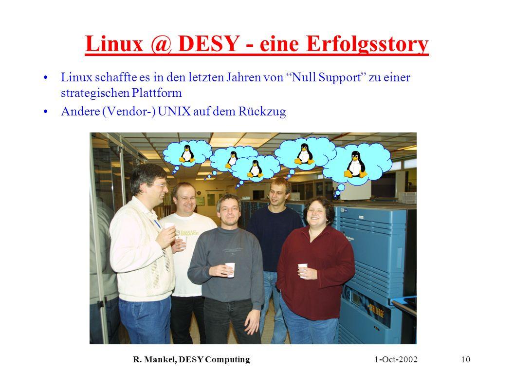 Linux @ DESY - eine Erfolgsstory