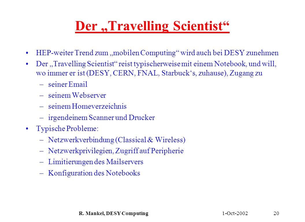 "Der ""Travelling Scientist"