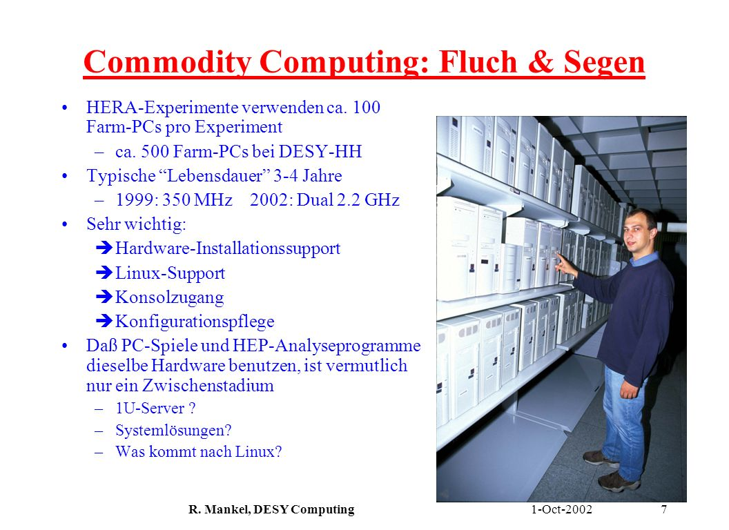 Commodity Computing: Fluch & Segen