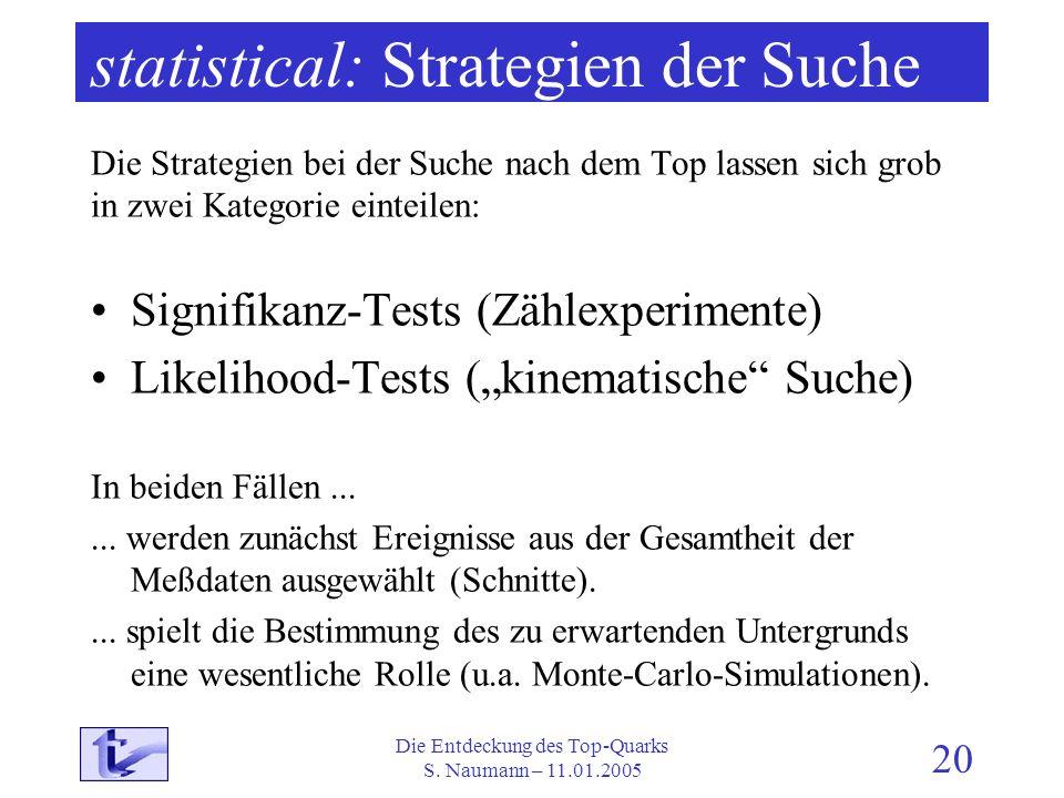 statistical: Strategien der Suche