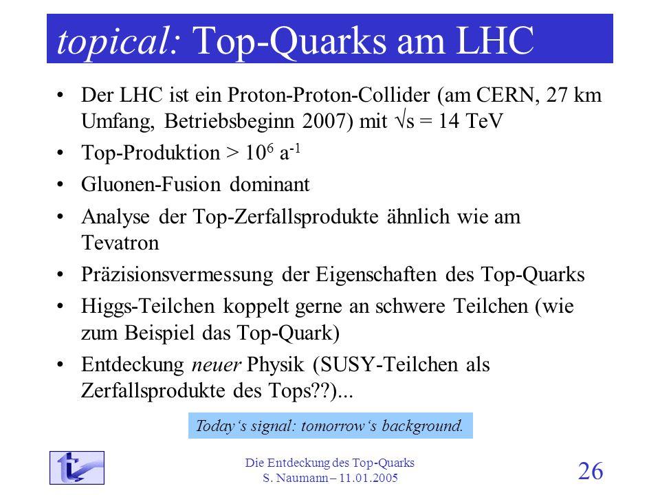 topical: Top-Quarks am LHC