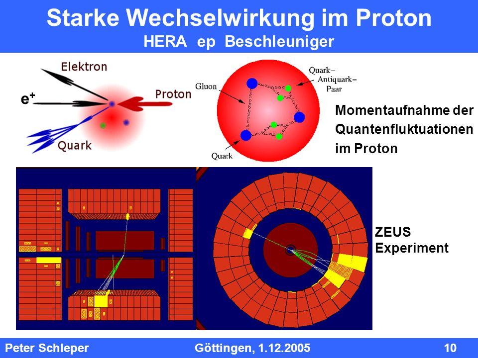Starke Wechselwirkung im Proton HERA ep Beschleuniger