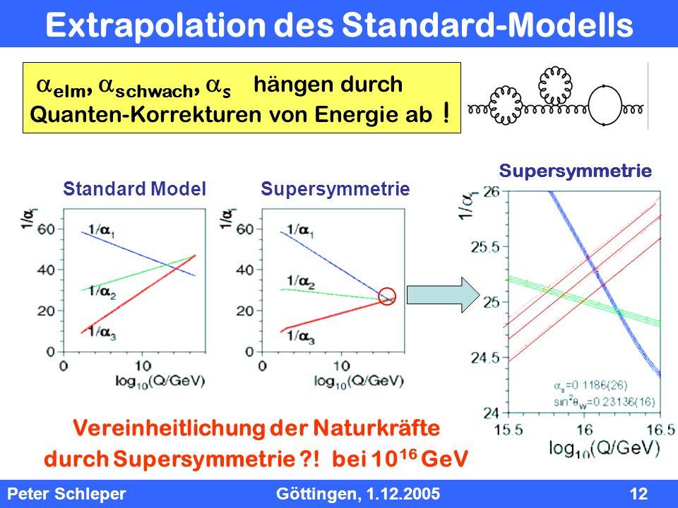 Extrapolation des Standard-Modells