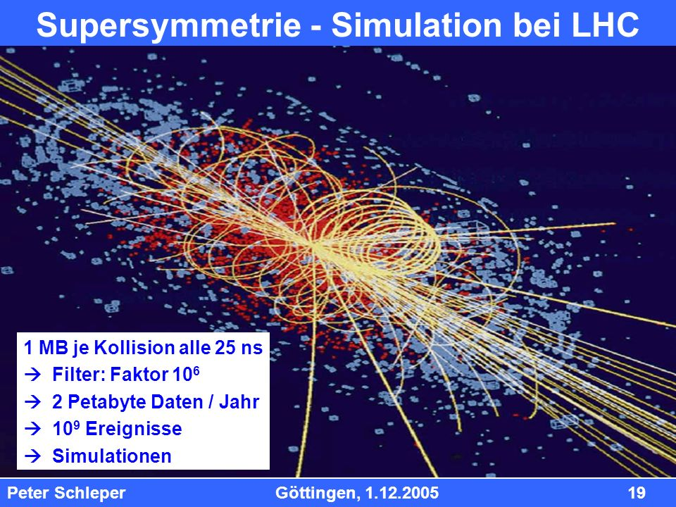 Supersymmetrie - Simulation bei LHC