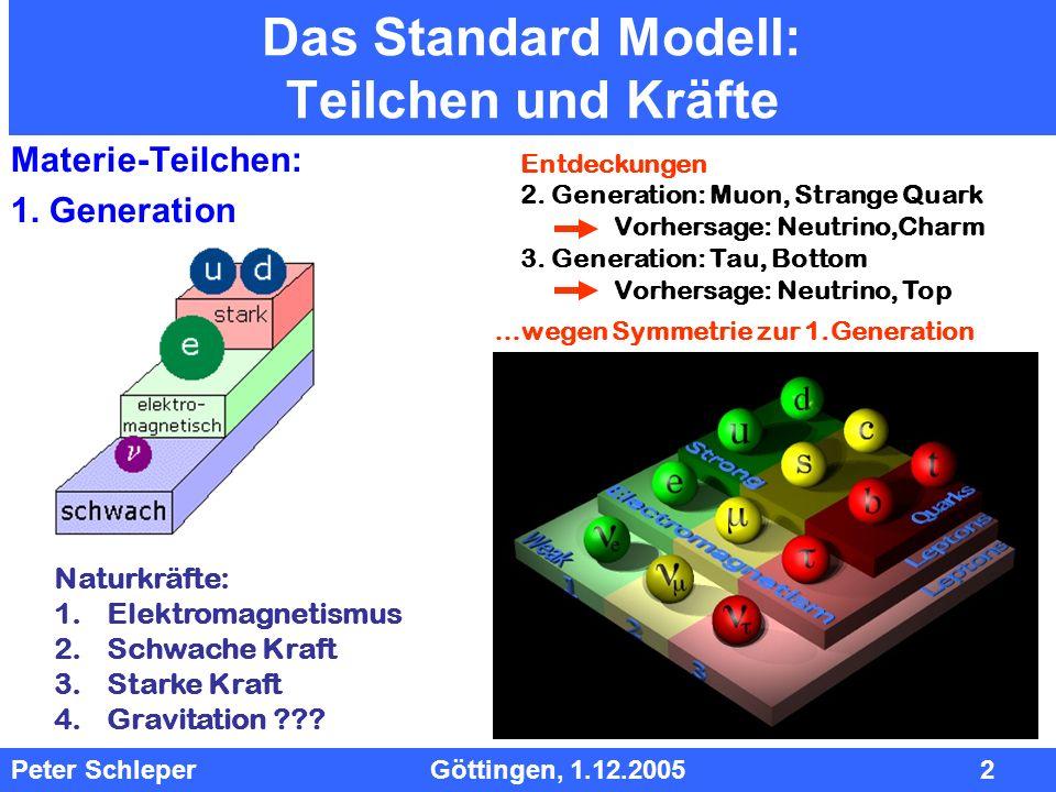 Das Standard Modell: Teilchen und Kräfte
