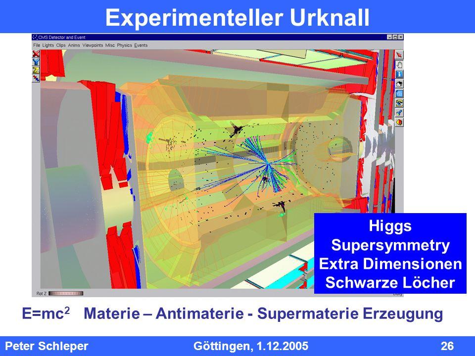 Experimenteller Urknall