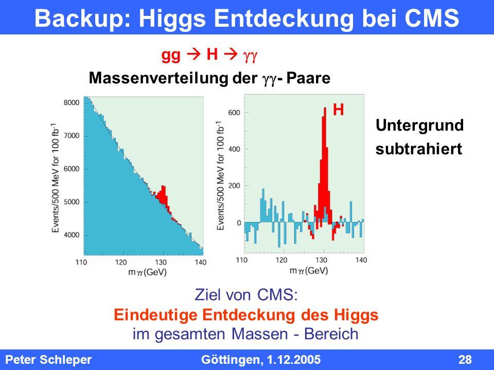 Backup: Higgs Entdeckung bei CMS