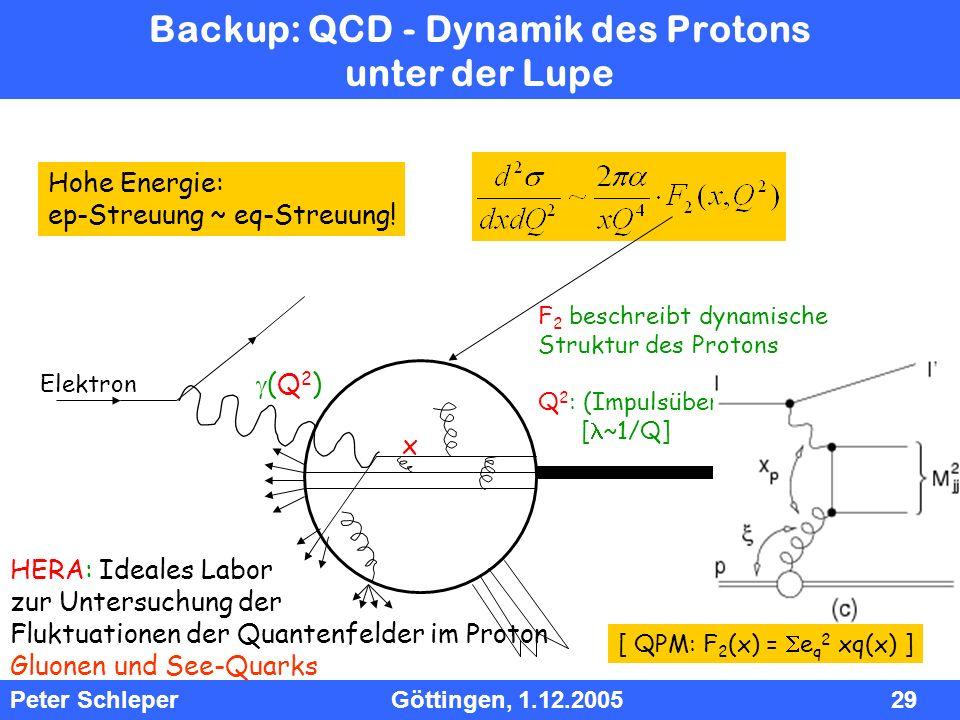 Backup: QCD - Dynamik des Protons unter der Lupe