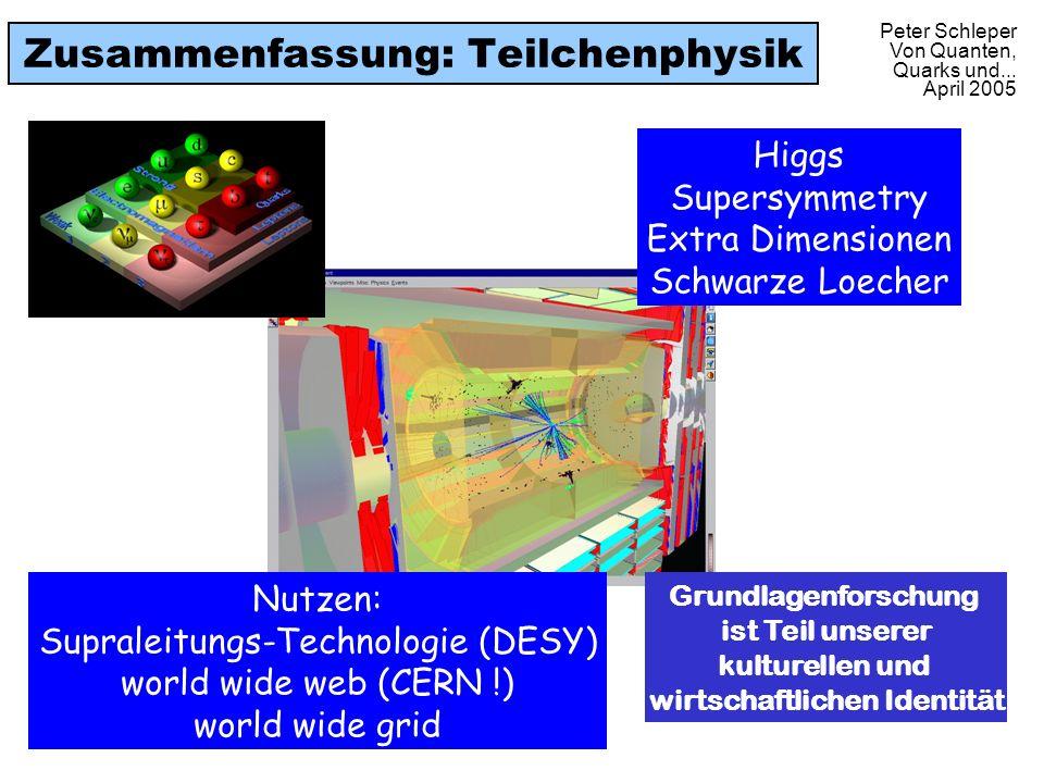 Zusammenfassung: Teilchenphysik
