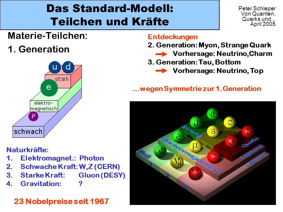Das Standard-Modell: Teilchen und Kräfte