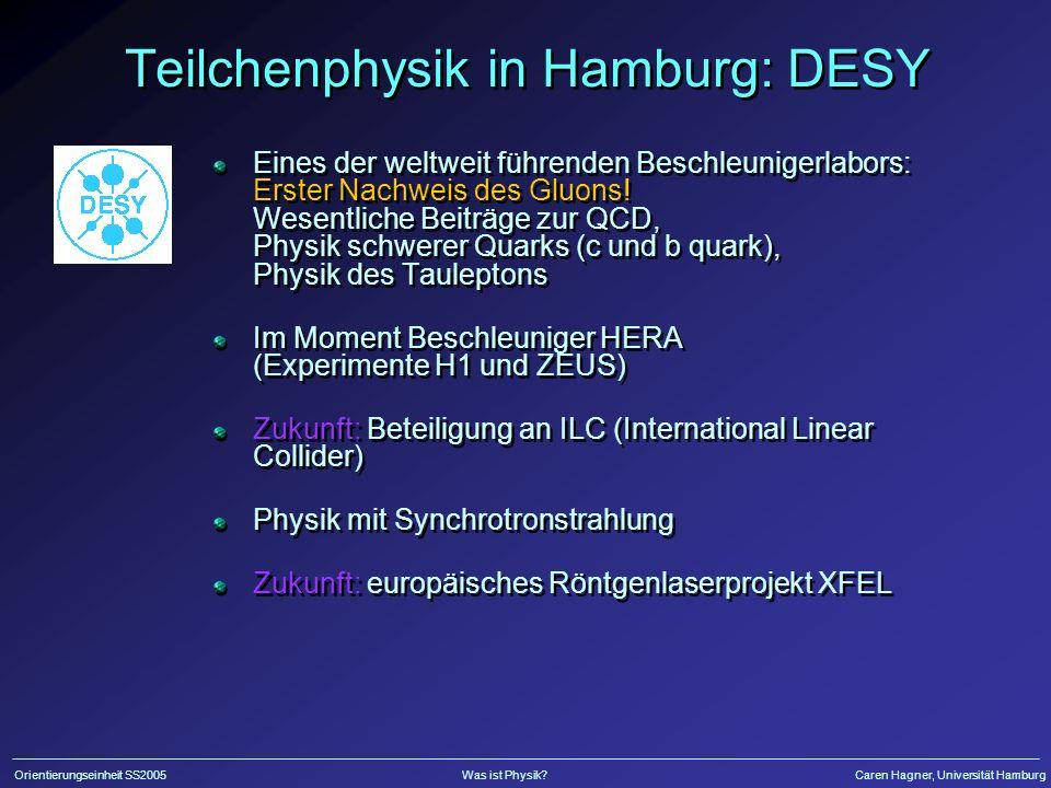 Teilchenphysik in Hamburg: DESY