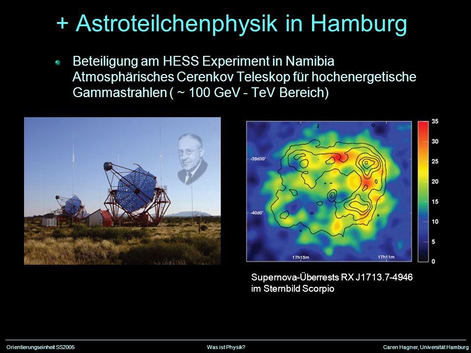 + Astroteilchenphysik in Hamburg