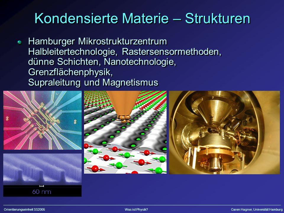Kondensierte Materie – Strukturen