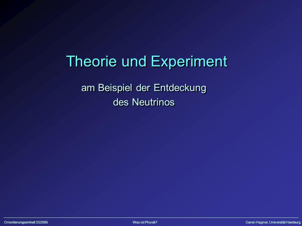 Theorie und Experiment