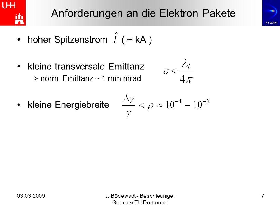 Anforderungen an die Elektron Pakete