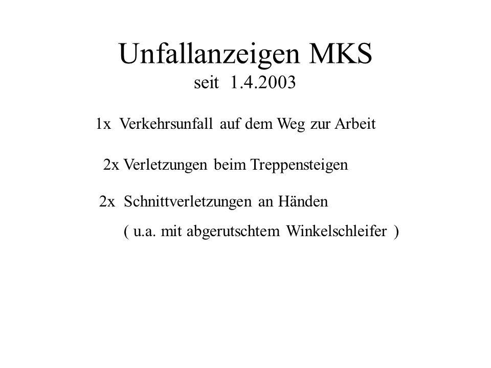 Unfallanzeigen MKS seit 1.4.2003