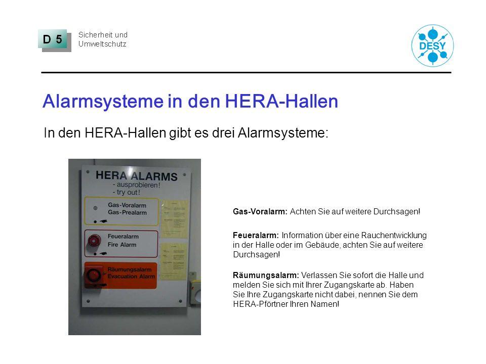 Alarmsysteme in den HERA-Hallen
