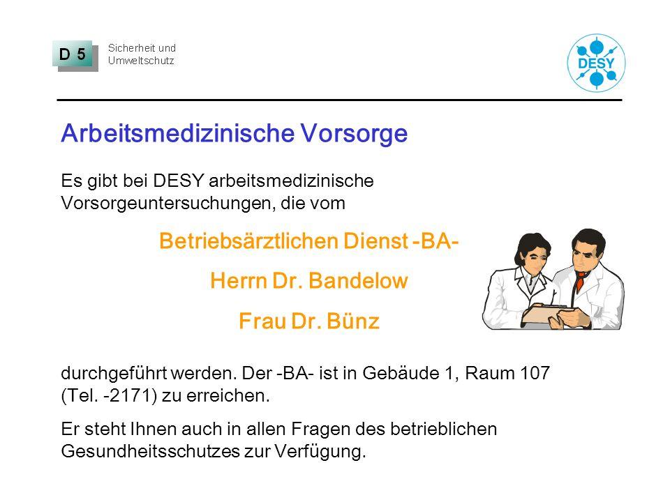 Betriebsärztlichen Dienst -BA-
