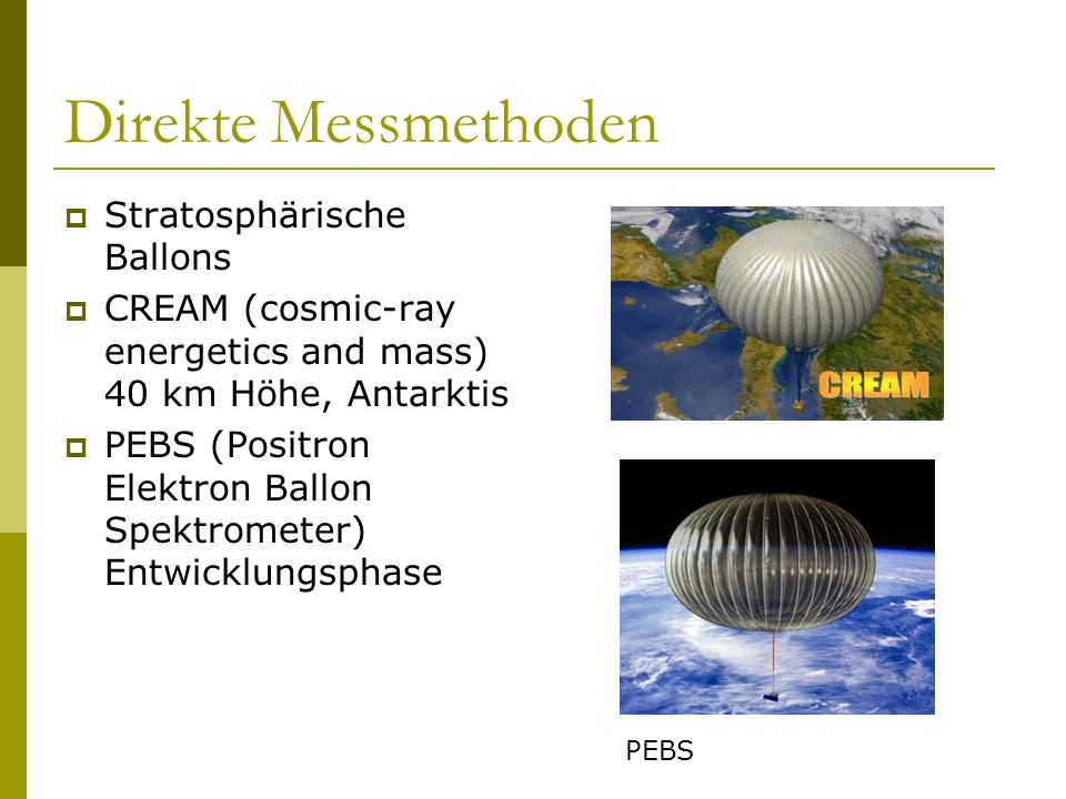 Direkte Messmethoden Stratosphärische Ballons