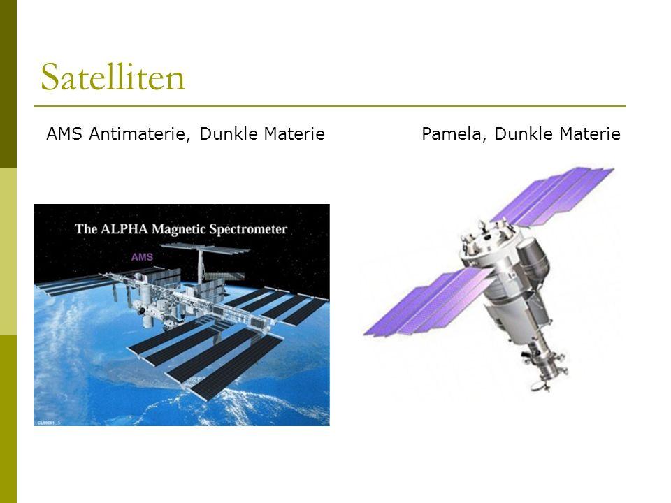 Satelliten AMS Antimaterie, Dunkle Materie Pamela, Dunkle Materie