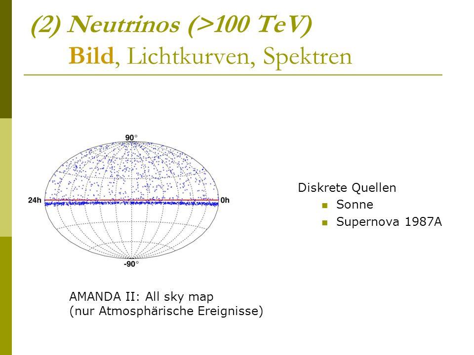 (2) Neutrinos (>100 TeV) Bild, Lichtkurven, Spektren