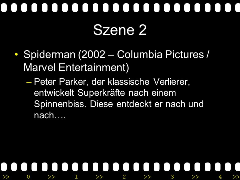 Szene 2 Spiderman (2002 – Columbia Pictures / Marvel Entertainment)