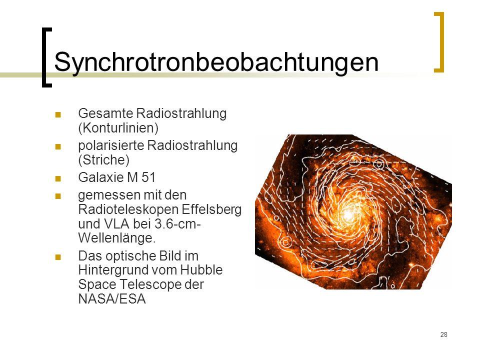 Synchrotronbeobachtungen