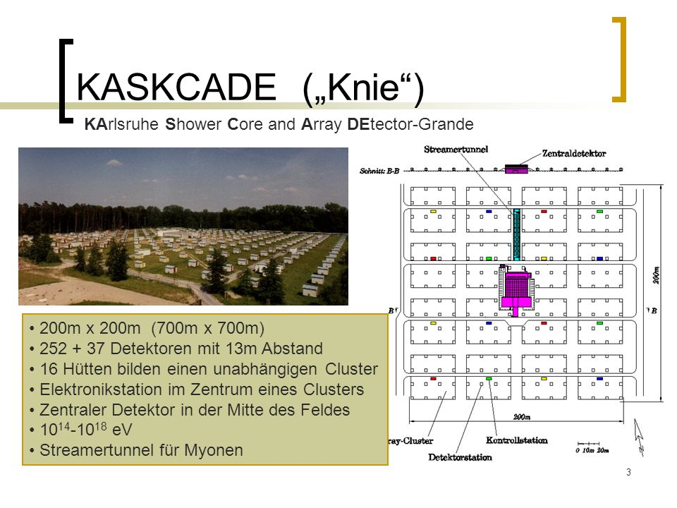 "KASKCADE (""Knie ) KArlsruhe Shower Core and Array DEtector-Grande"