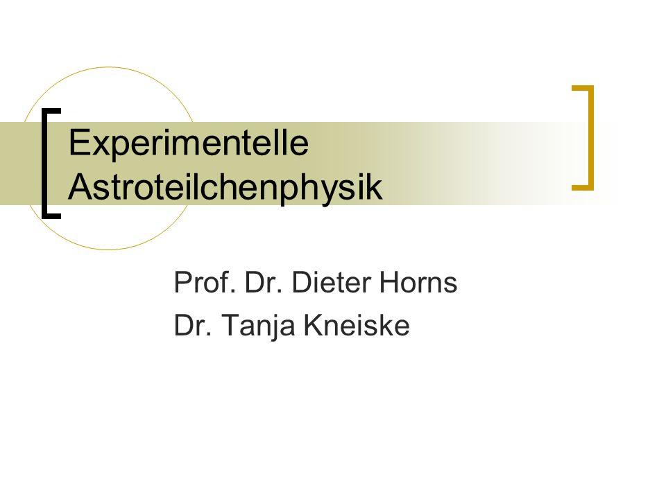 Experimentelle Astroteilchenphysik