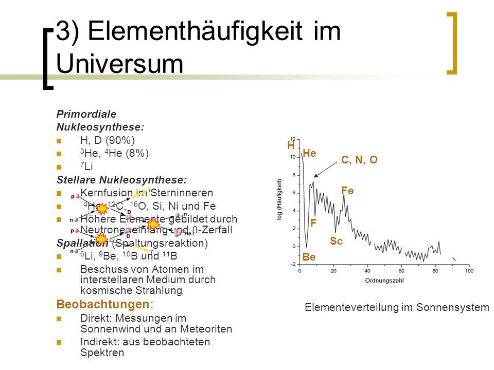 3) Elementhäufigkeit im Universum