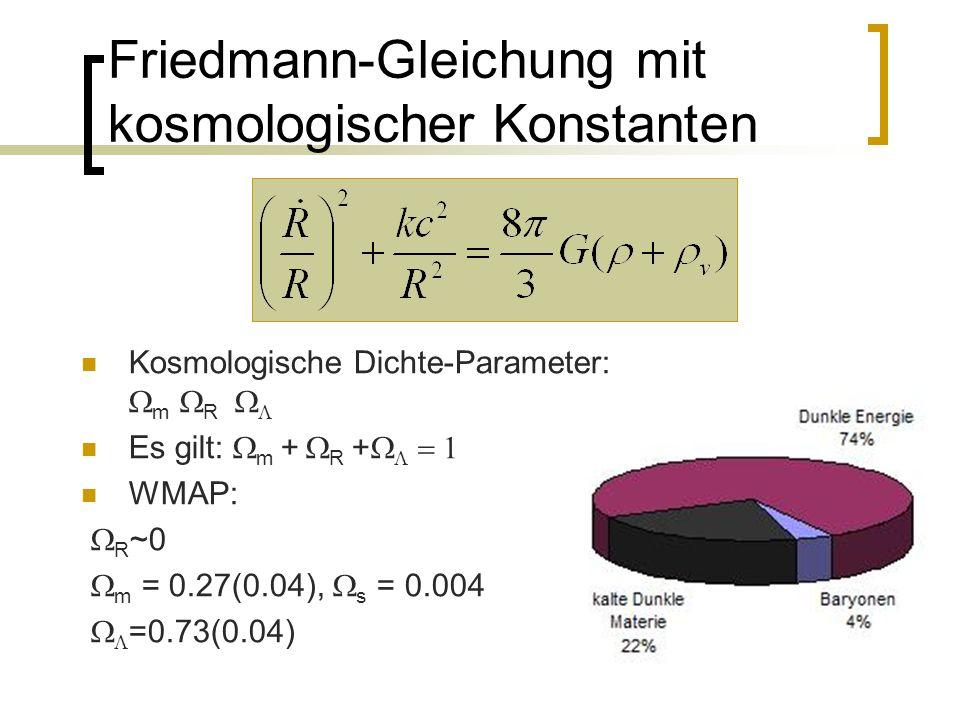 Friedmann-Gleichung mit kosmologischer Konstanten