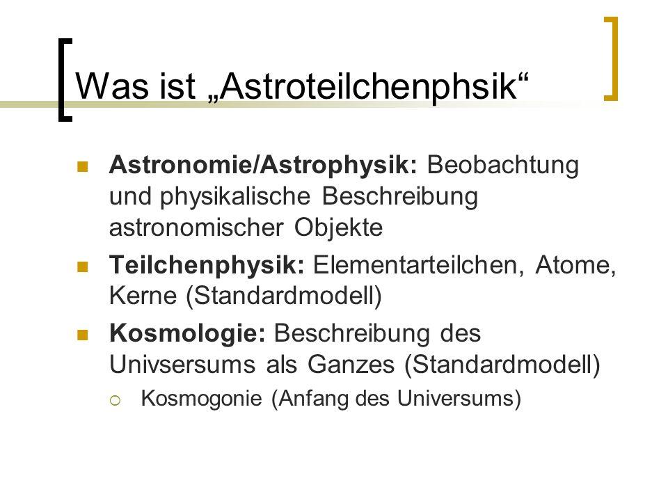 """Was ist """"Astroteilchenphsik"""