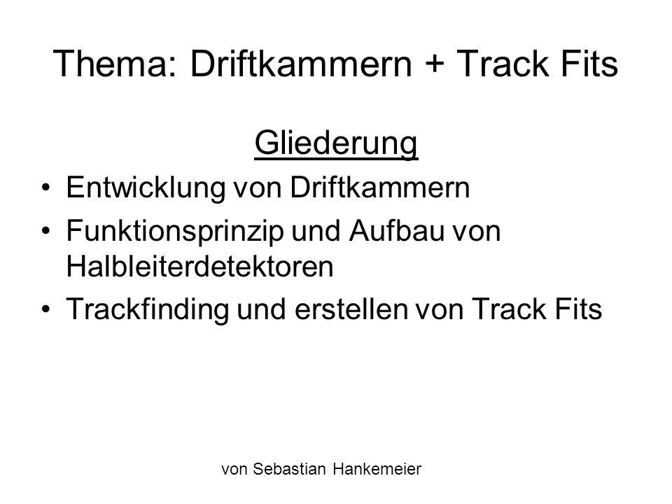 Thema: Driftkammern + Track Fits