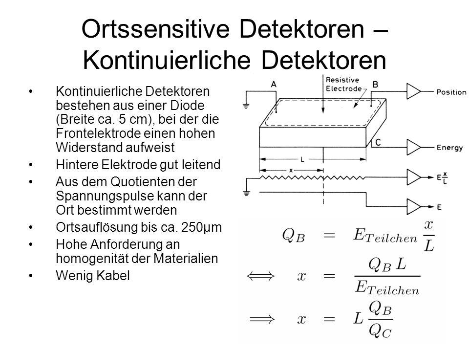 Ortssensitive Detektoren – Kontinuierliche Detektoren
