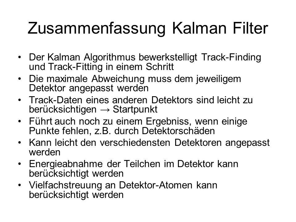 Zusammenfassung Kalman Filter