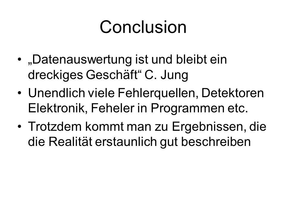 """Conclusion """"Datenauswertung ist und bleibt ein dreckiges Geschäft C. Jung."""