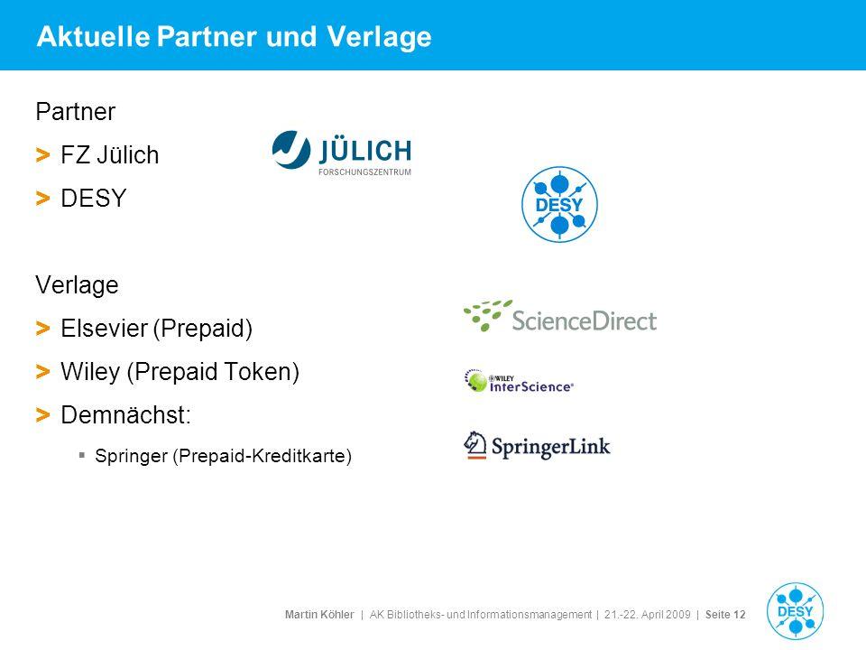 Aktuelle Partner und Verlage
