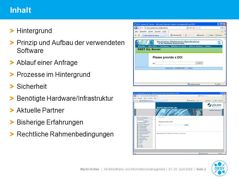 Inhalt Hintergrund Prinzip und Aufbau der verwendeten Software