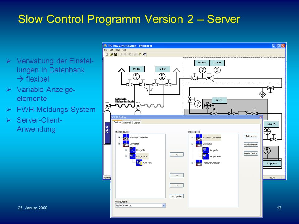 Slow Control Programm Version 2 – Server