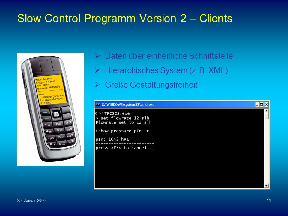 Slow Control Programm Version 2 – Clients