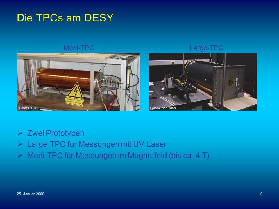 Die TPCs am DESY Zwei Prototypen Large-TPC für Messungen mit UV-Laser
