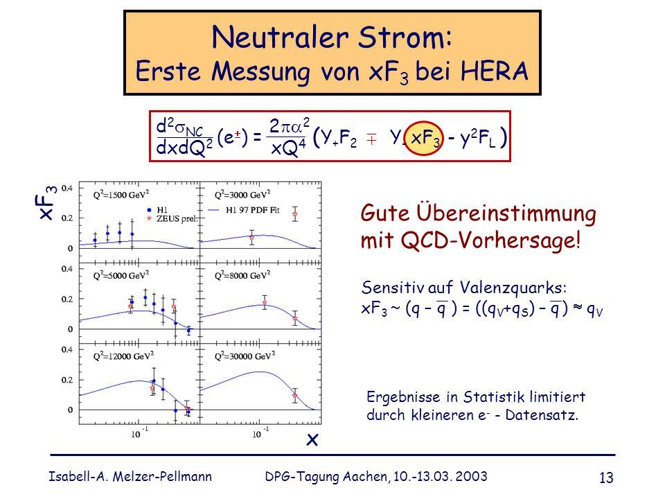 Neutraler Strom: Erste Messung von xF3 bei HERA