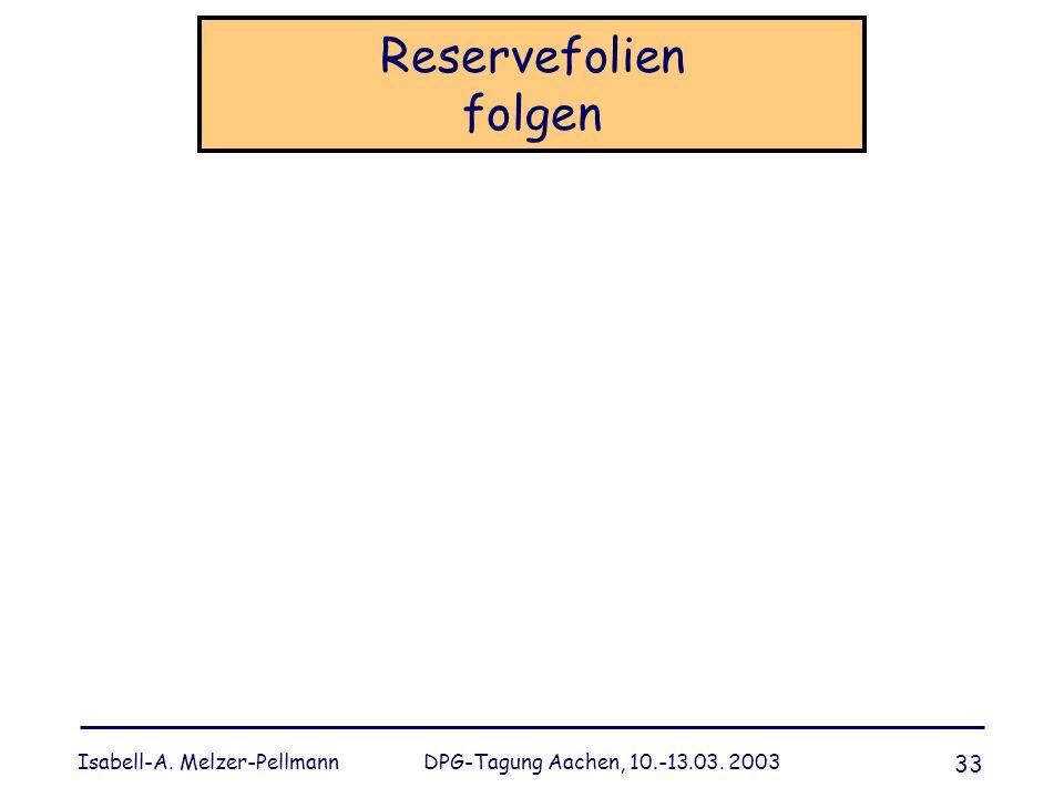 Reservefolien folgen