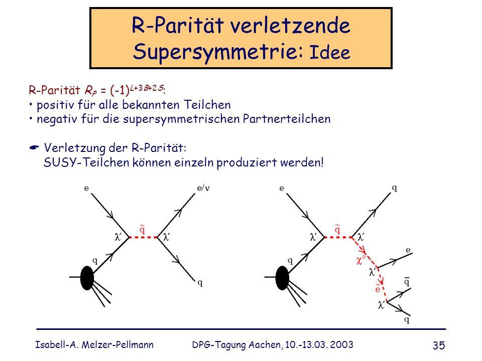 R-Parität verletzende Supersymmetrie: Idee