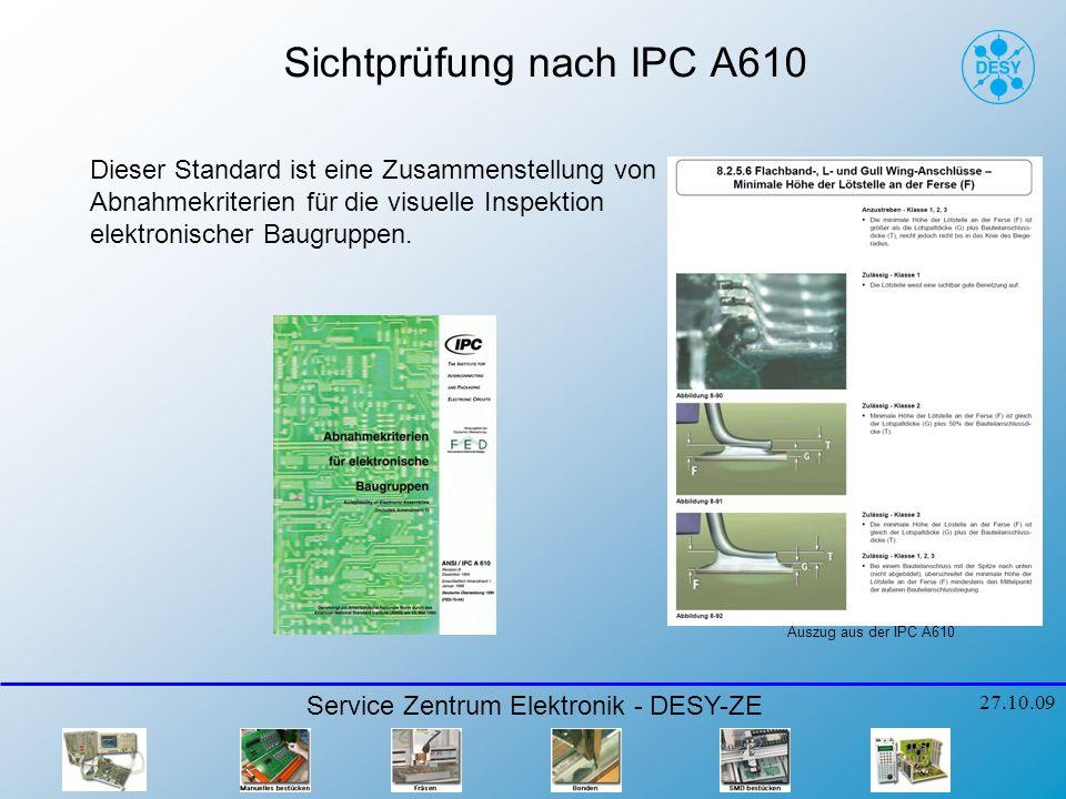 Sichtprüfung nach IPC A610