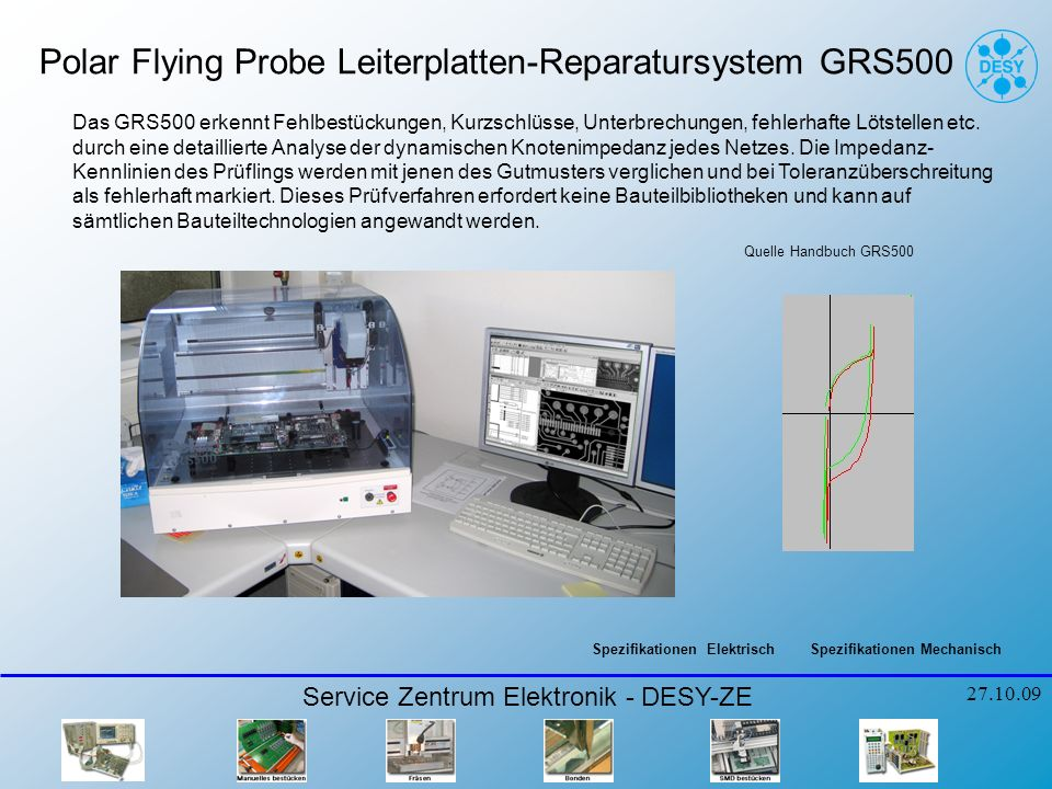 Polar Flying Probe Leiterplatten-Reparatursystem GRS500