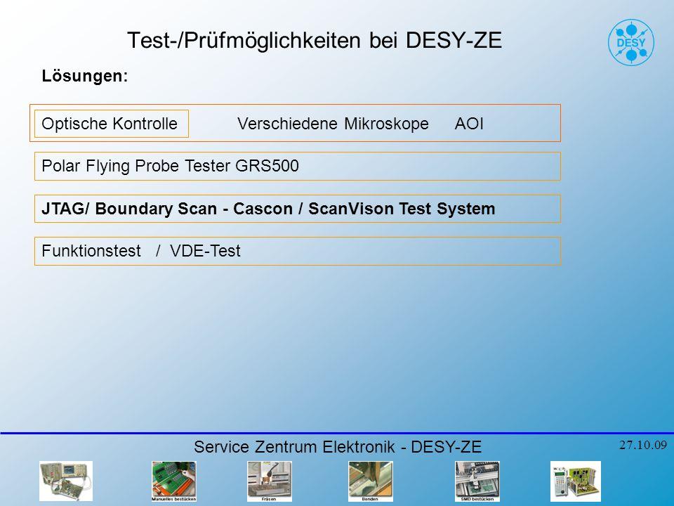 Test-/Prüfmöglichkeiten bei DESY-ZE