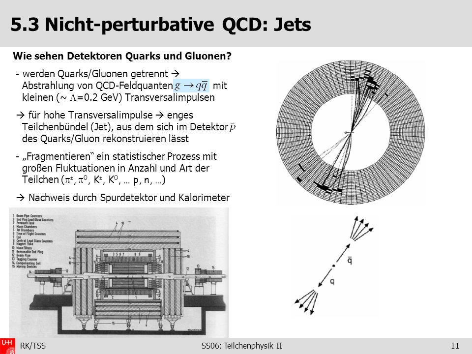 5.3 Nicht-perturbative QCD: Jets