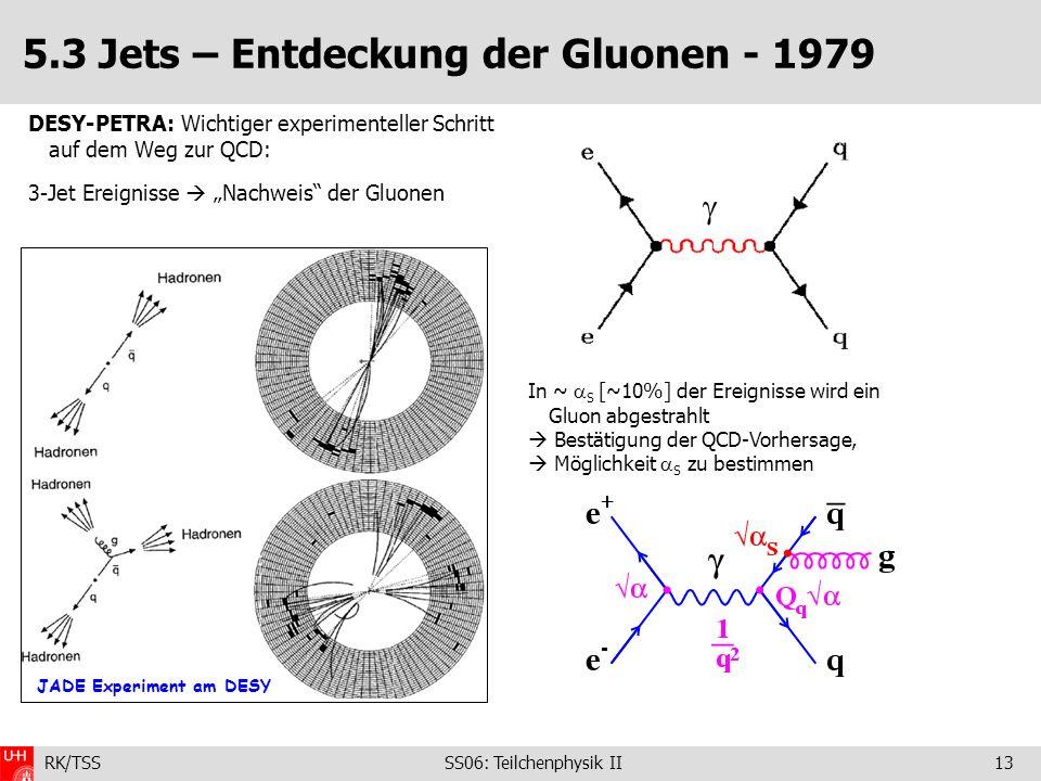 5.3 Jets – Entdeckung der Gluonen - 1979