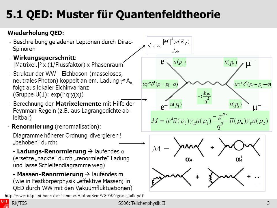 5.1 QED: Muster für Quantenfeldtheorie